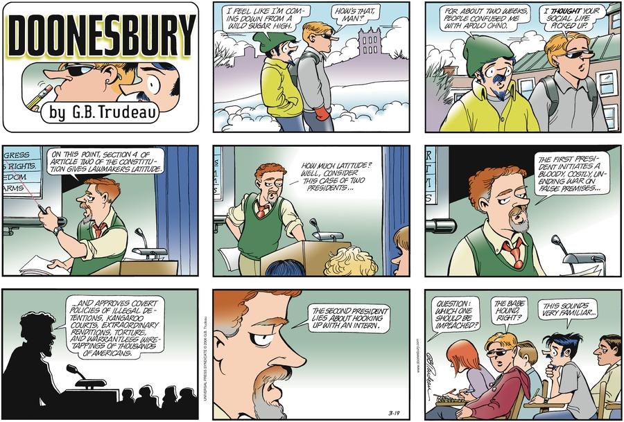 Doonesbury for Mar 19, 2006 Comic Strip