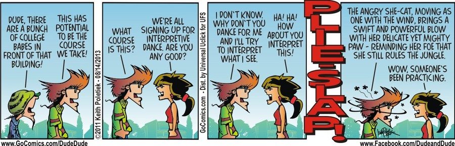 Dude and Dude for Aug 14, 2013 Comic Strip