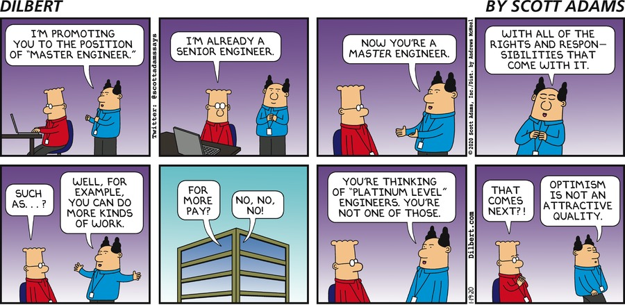 Master Engineer - Dilbert by Scott Adams