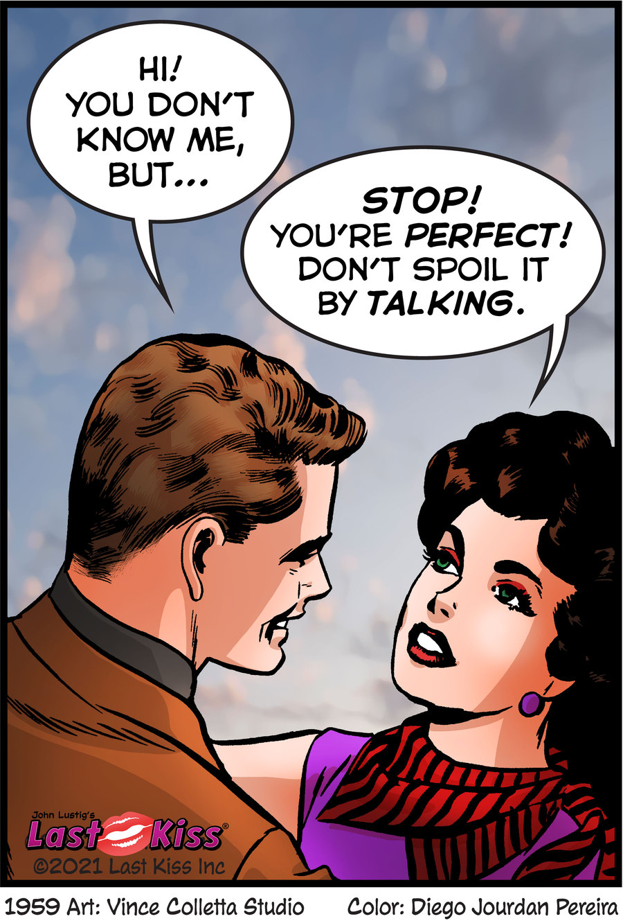 Last Kiss Comic Strip for August 02, 2021