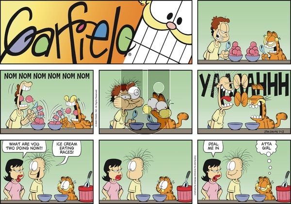 Garfield on Sunday July 12, 2020 Comic Strip