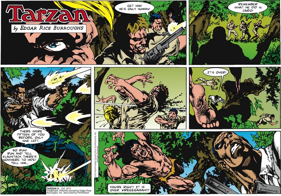 Tarzan Comic Strip for December 08, 2019