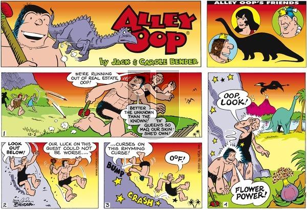 Alley Oop on Sunday December 2, 2001 Comic Strip