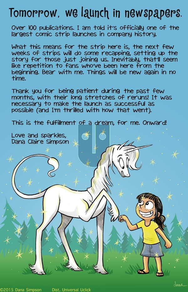 Phoebe and Her Unicorn on Sunday March 29, 2015 Comic Strip