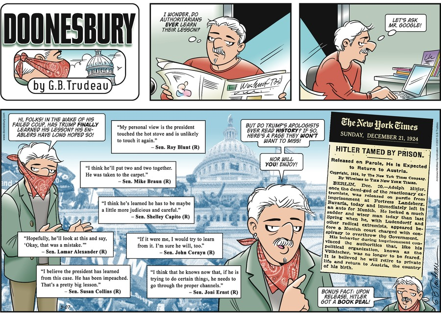 Doonesbury Comic Strip for March 07, 2021