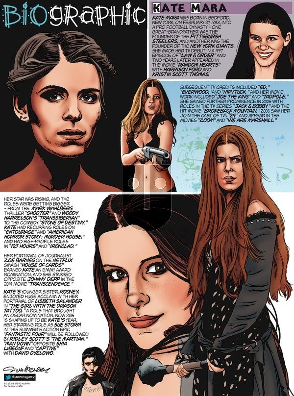 Biographic on Sunday August 2, 2015 Comic Strip