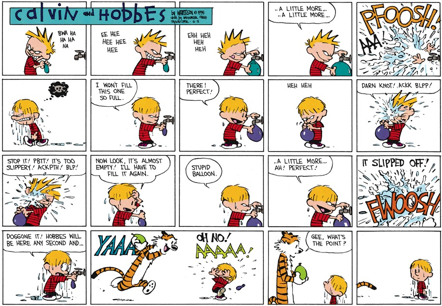 Calvin and Hobbes Comic Strip for June 11, 1995