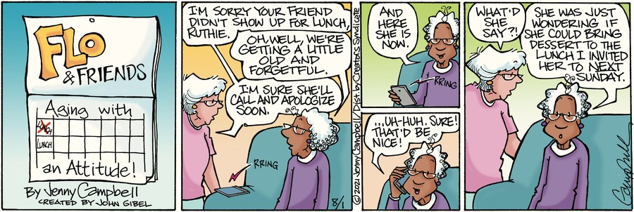 Flo and Friends Comic Strip for August 01, 2021