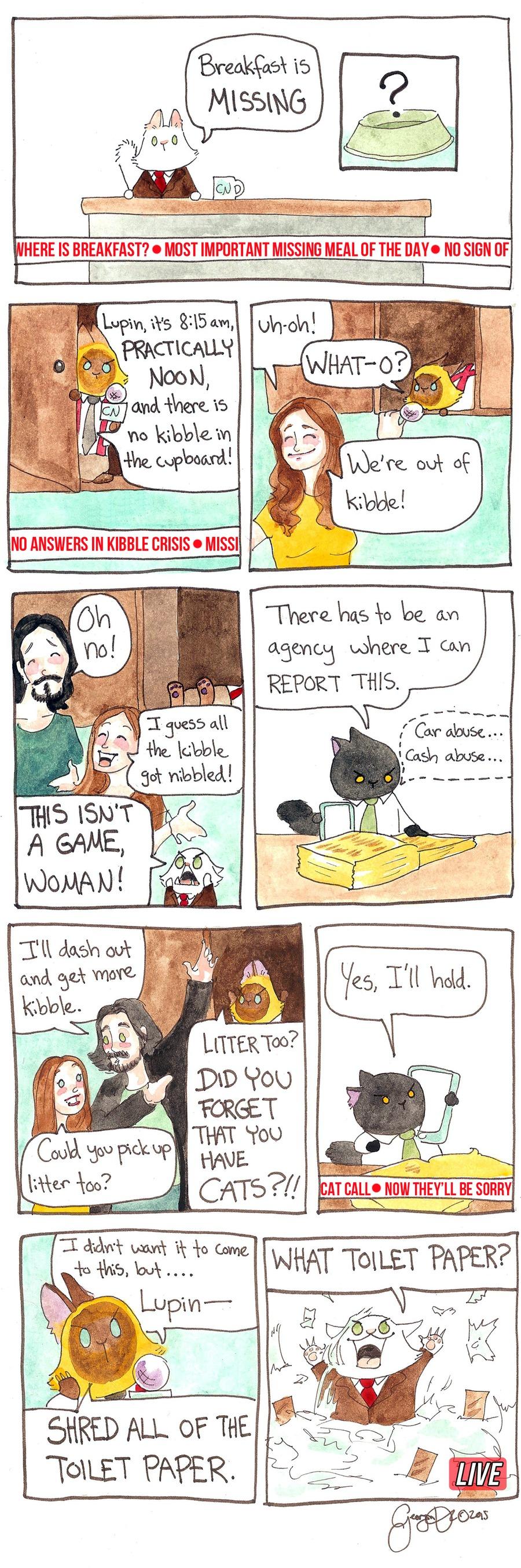 Breaking Cat News Comic Strip for January 29, 2017