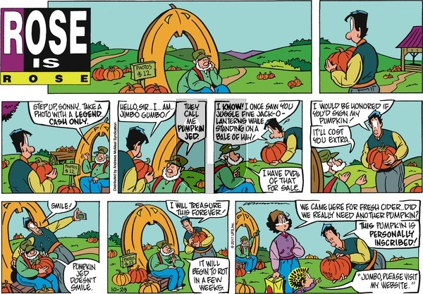 Rose is Rose on Sunday October 29, 2017 Comic Strip