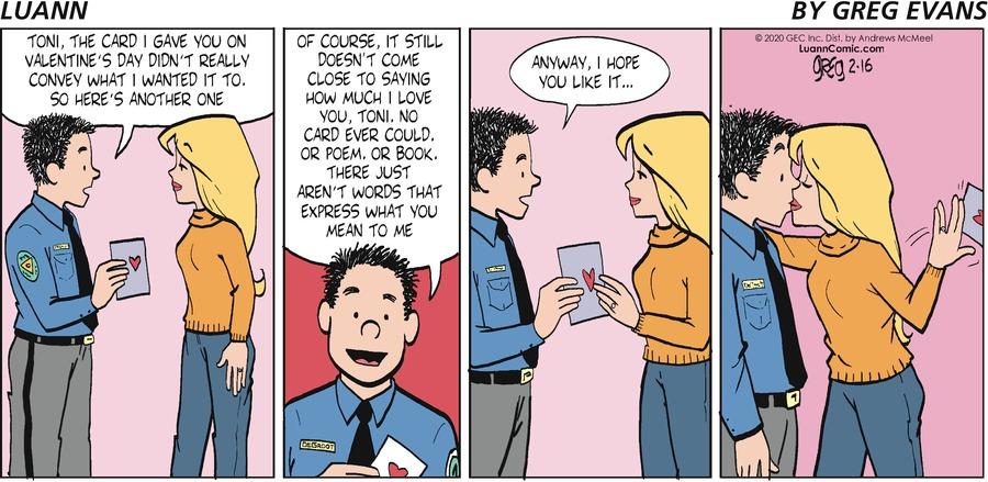 Luann Comic Strip for February 16, 2020