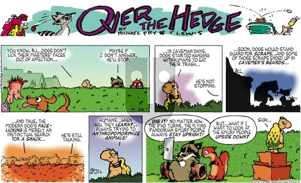 Over the Hedge on Sunday May 6, 2012 Comic Strip