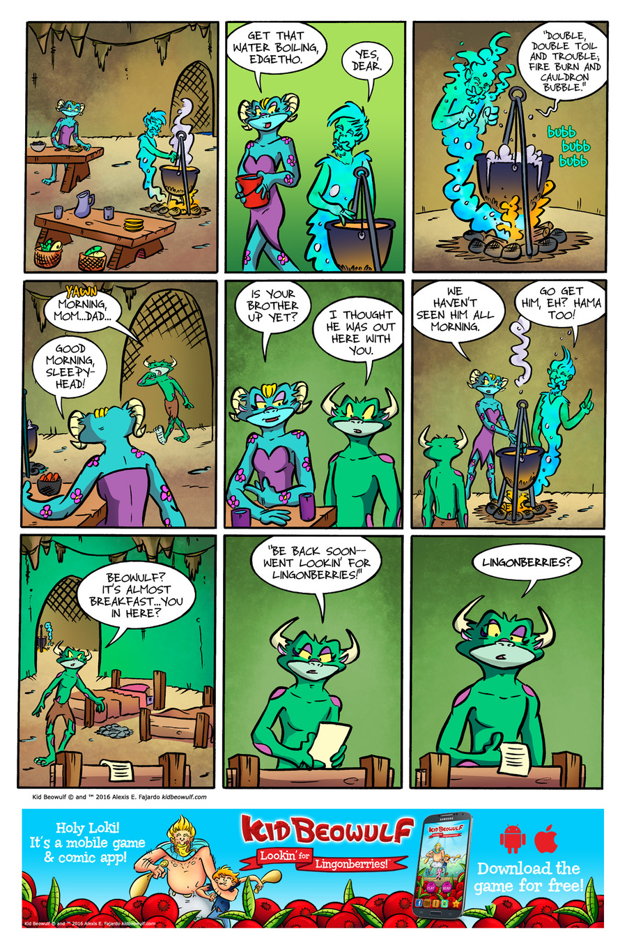 Kid Beowulf Comic Strip for December 13, 2016