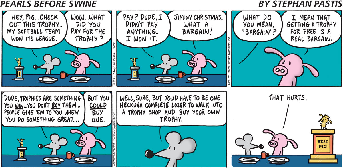 Pearls Before Swine Comic Strip for March 27, 2005