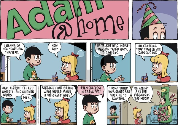 Adam@Home on Sunday December 30, 2018 Comic Strip