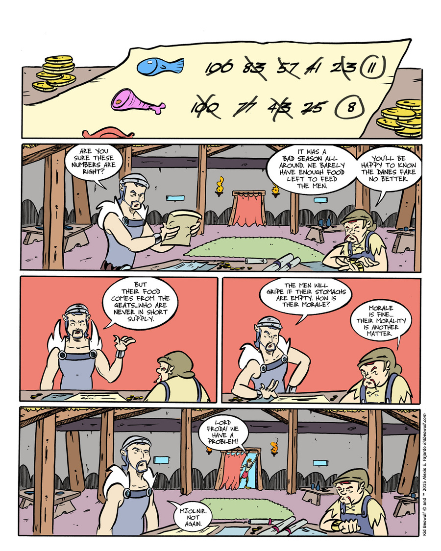 Kid Beowulf Comic Strip for May 04, 2015
