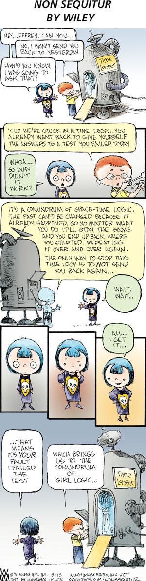 Non Sequitur for Mar 13, 2011 Comic Strip
