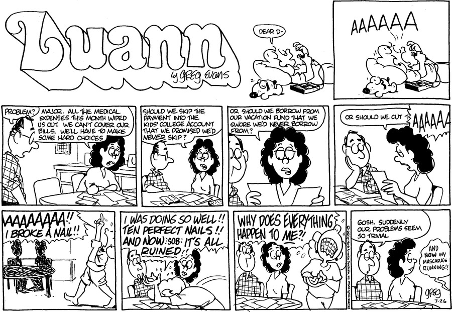Luann Againn by Greg Evans on Sun, 26 Jul 2020