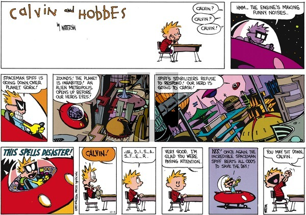 Calvin and Hobbes on Sunday October 5, 2014 Comic Strip