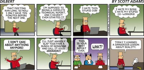 Dilbert on Sunday April 5, 2020 Comic Strip