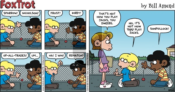 FoxTrot on Sunday September 23, 2018 Comic Strip