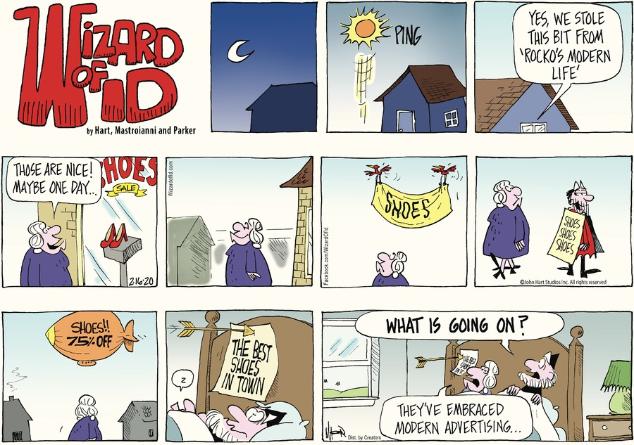 Wizard of Id Comic Strip for February 16, 2020