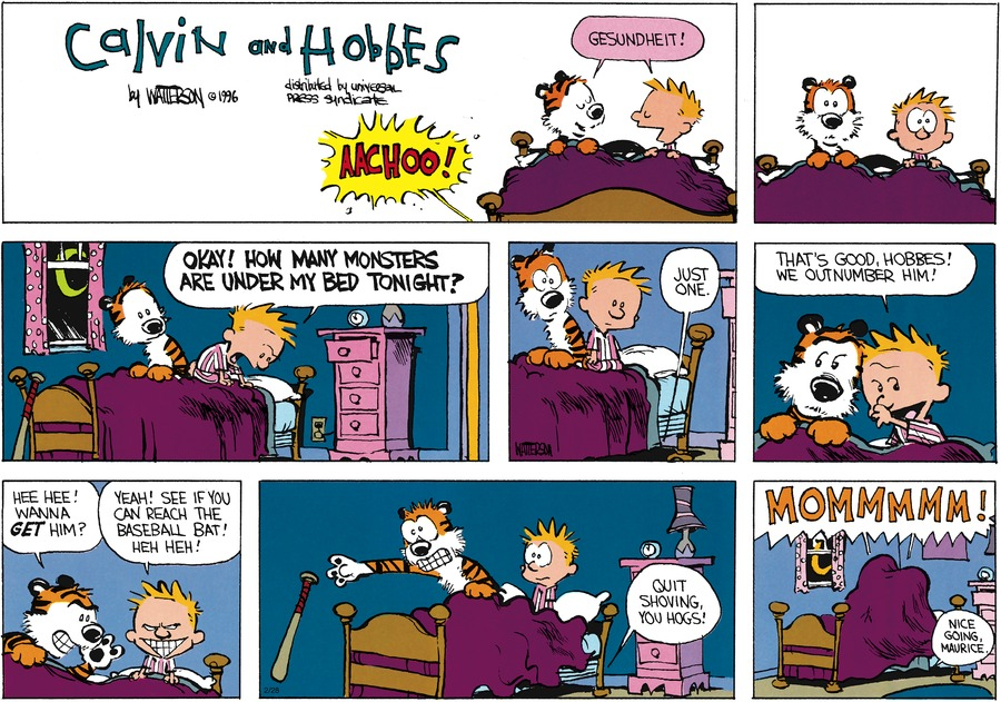 Calvin and Hobbes Comic Strip for February 28, 2016