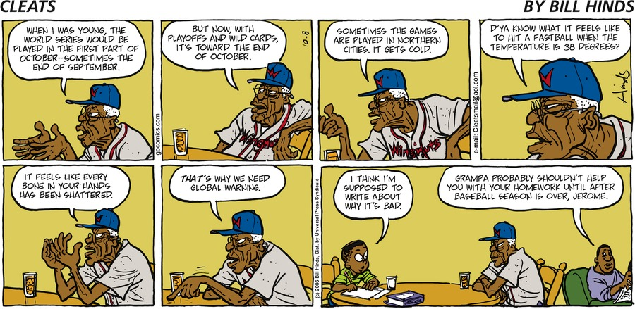 Cleats Comic Strip for October 08, 2006