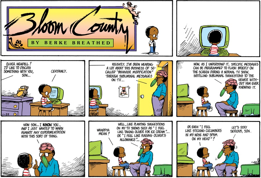 Bloom County by Berkeley Breathed on Thu, 28 Nov 2019