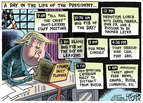 Rob Rogers on Sunday August 6, 2017 Comic Strip