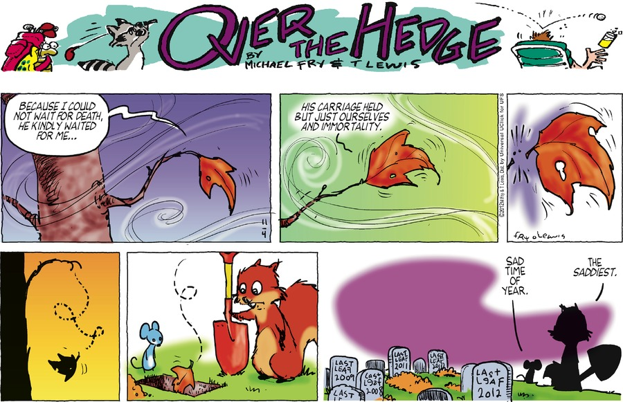 Over the Hedge for Nov 4, 2012 Comic Strip