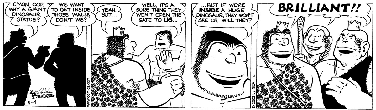Alley Oop for May 4, 2002 Comic Strip