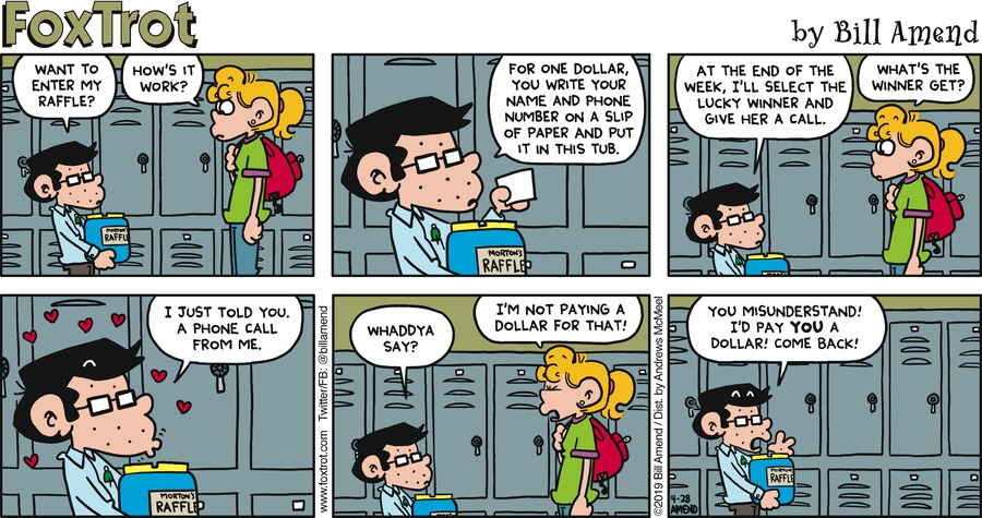 FoxTrot by Bill Amend for April 28, 2019
