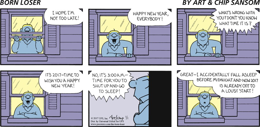 The Born Loser Comic Strip for January 01, 2017