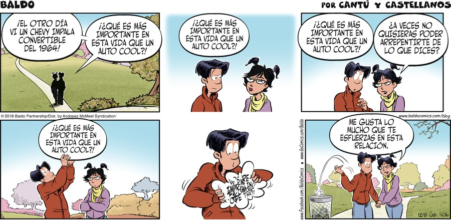 Baldo en Español by Hector D. Cantú and Carlos Castellanos for December 09, 2018