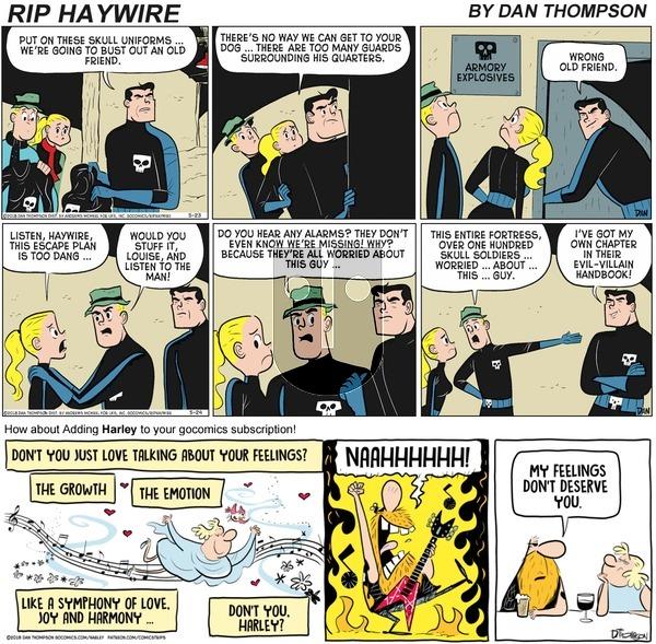 Rip Haywire on Sunday November 1, 2020 Comic Strip