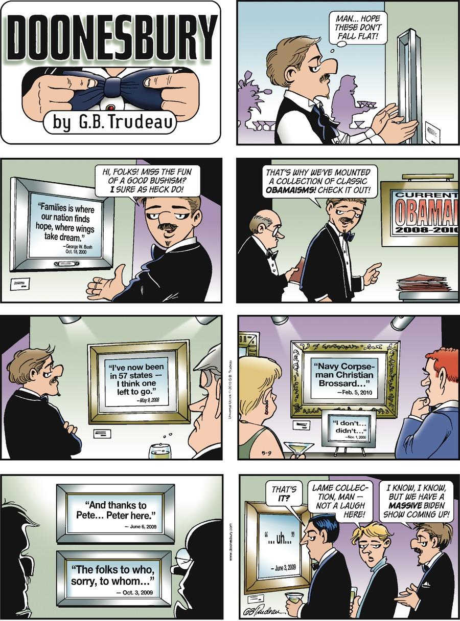 Doonesbury for May 9, 2010 Comic Strip