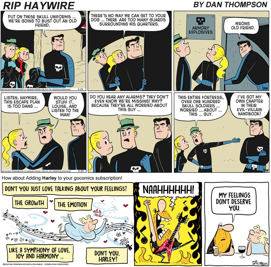 Rip Haywire Comic Strip for November 01, 2020