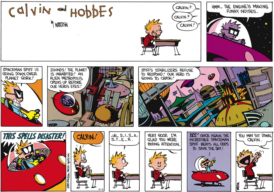 Calvin and Hobbes Comic Strip for October 05, 2014