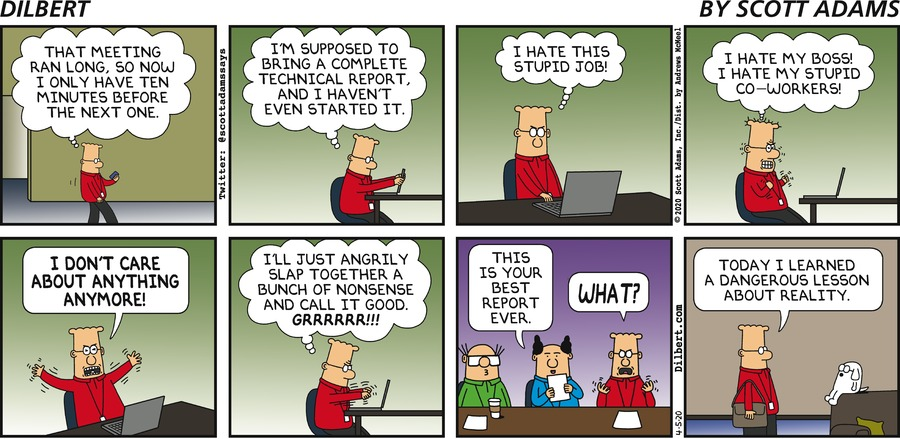 No Time Before Next Meeting - Dilbert by Scott Adams