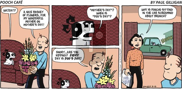 Pooch Cafe - Sunday May 13, 2012 Comic Strip