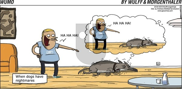 WuMo on Sunday March 3, 2019 Comic Strip