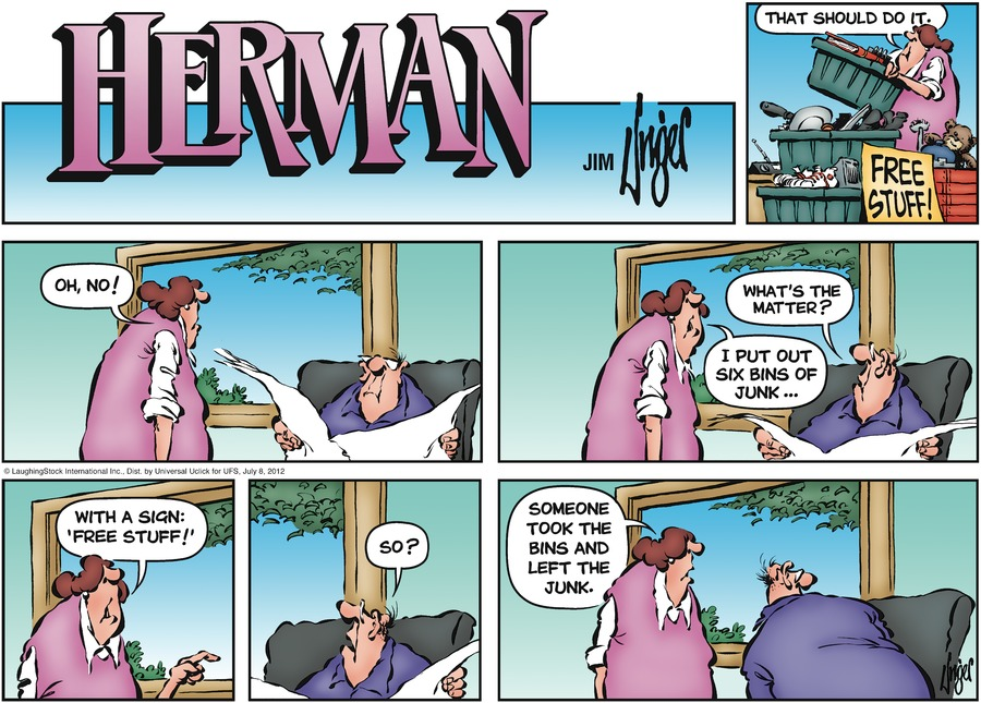 Herman Comic Strip for July 08, 2012