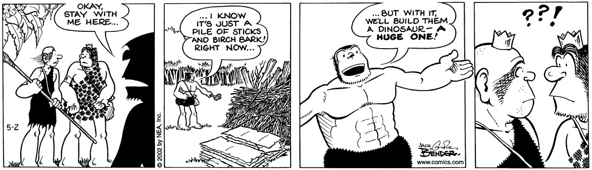 Alley Oop for May 2, 2002 Comic Strip
