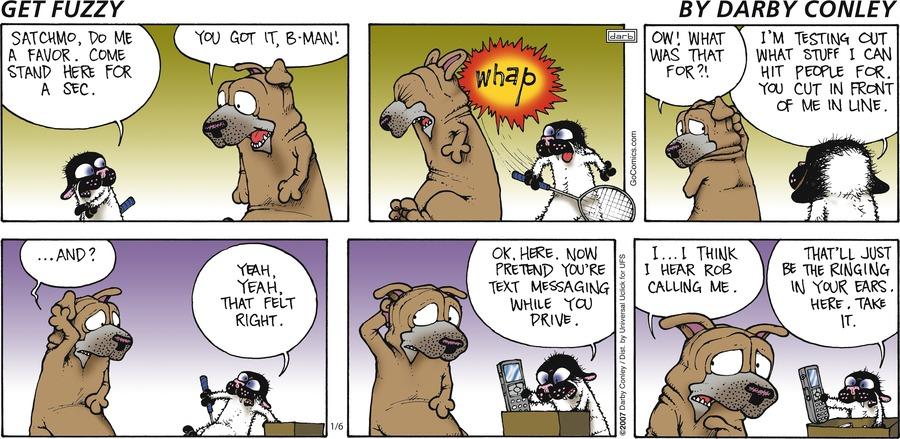 Get Fuzzy for Jan 6, 2013 Comic Strip