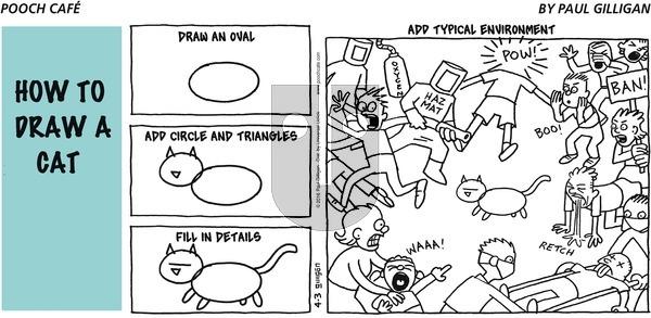 Pooch Cafe on Sunday April 3, 2016 Comic Strip