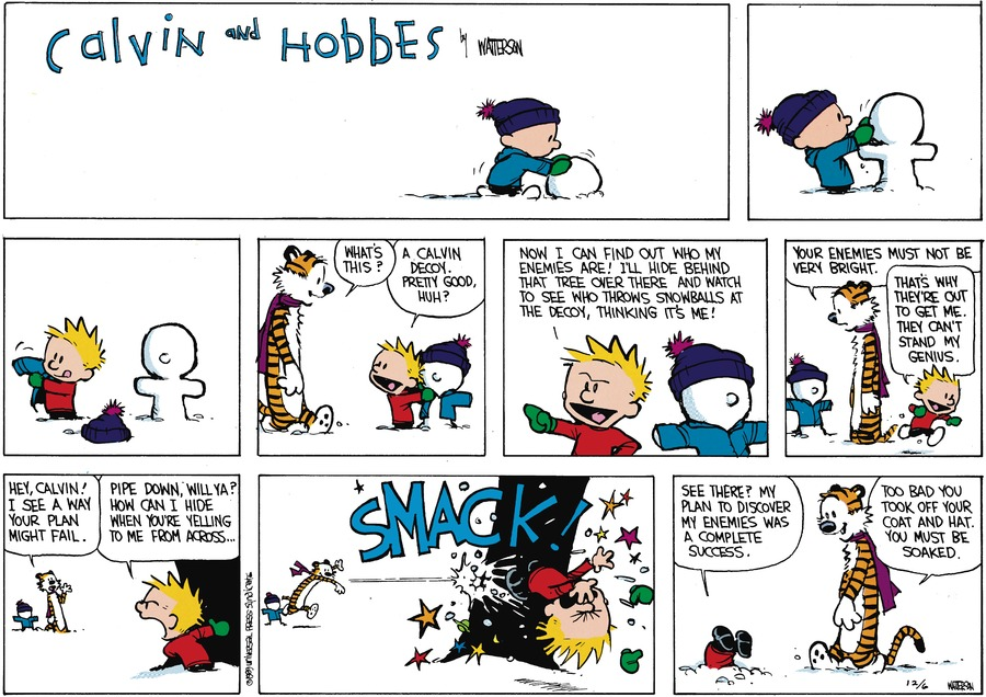 Calvin and Hobbes Comic Strip for February 19, 1989