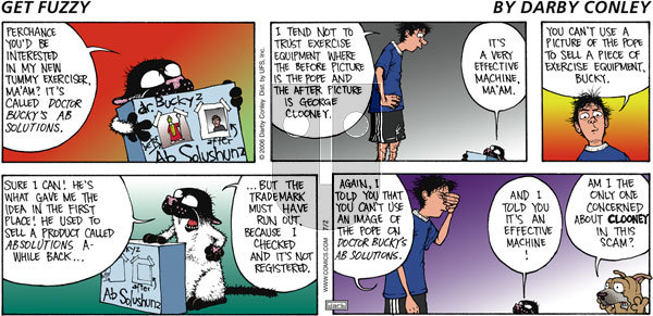 Get Fuzzy - Sunday July 2, 2006 Comic Strip