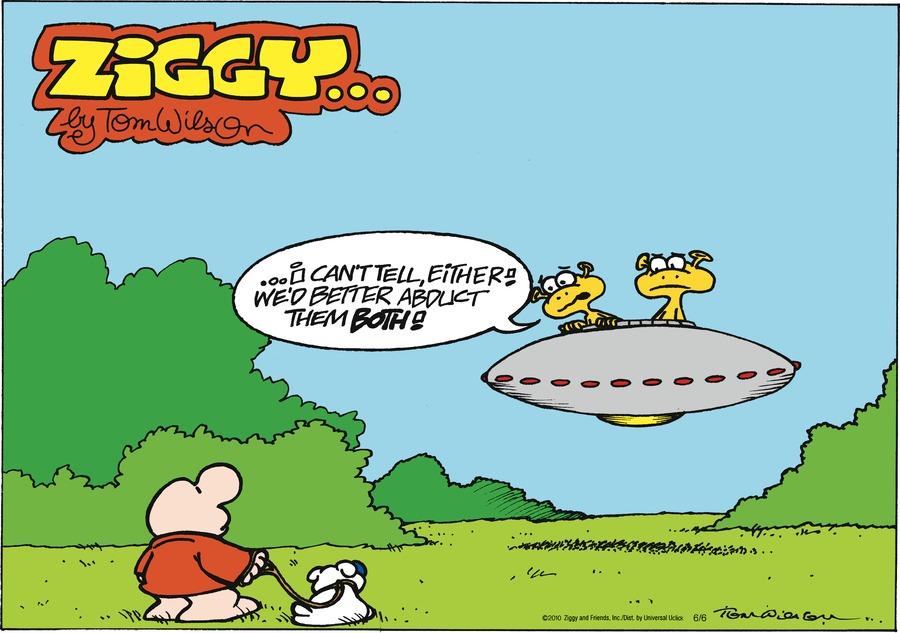 Ziggy for Jun 6, 2010 Comic Strip