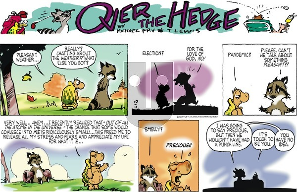 Over the Hedge on Sunday October 11, 2020 Comic Strip